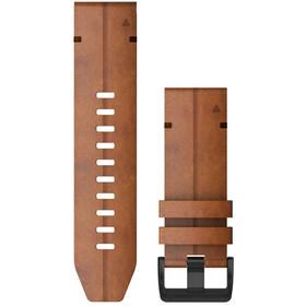 Garmin QuickFit Correa Reloj de Cuero 26mm para Fenix 6X, marrón